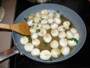 Onions cooking