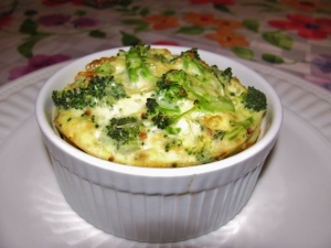 Individual Broccoli Quiche